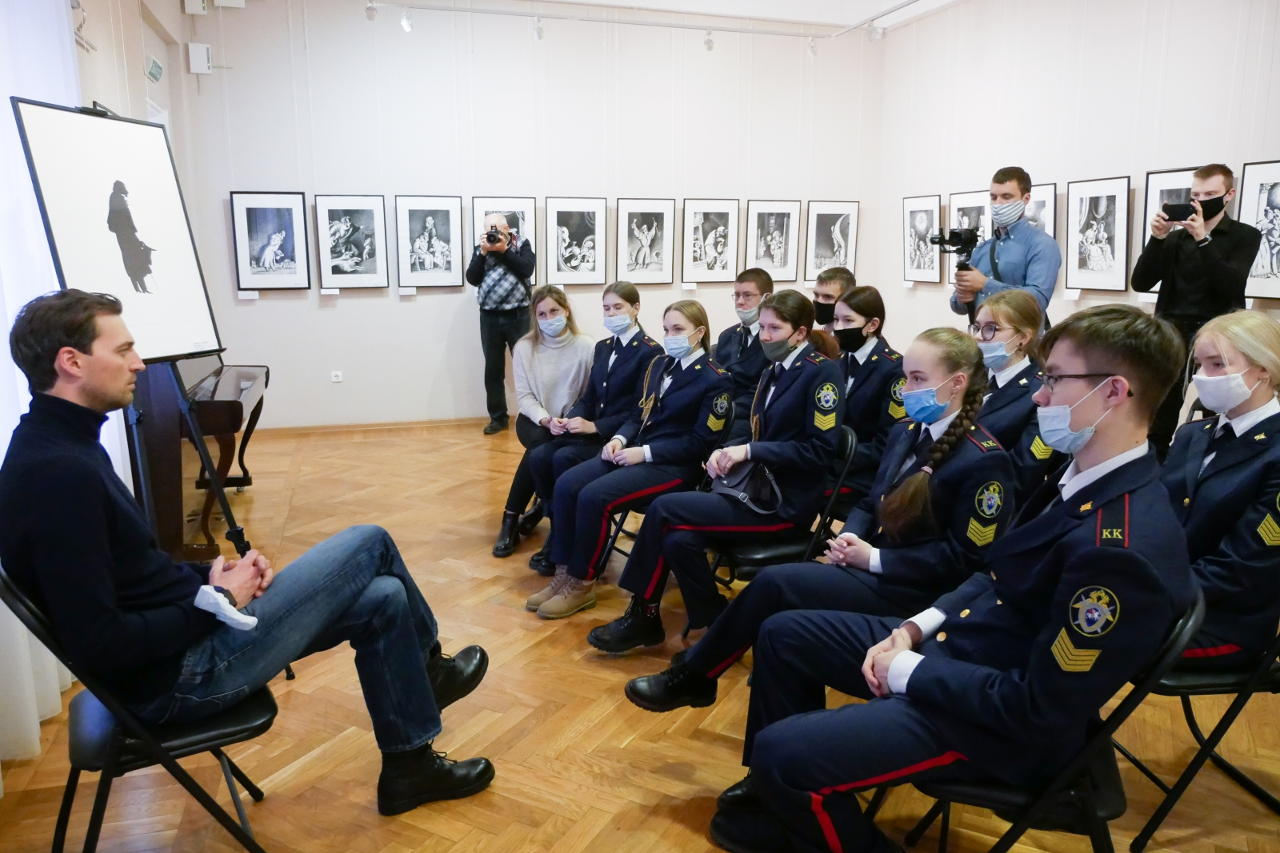 С актером сериала о следователях «Первый отдел» встретились ульяновские кадеты Следственного комитета, фото-3